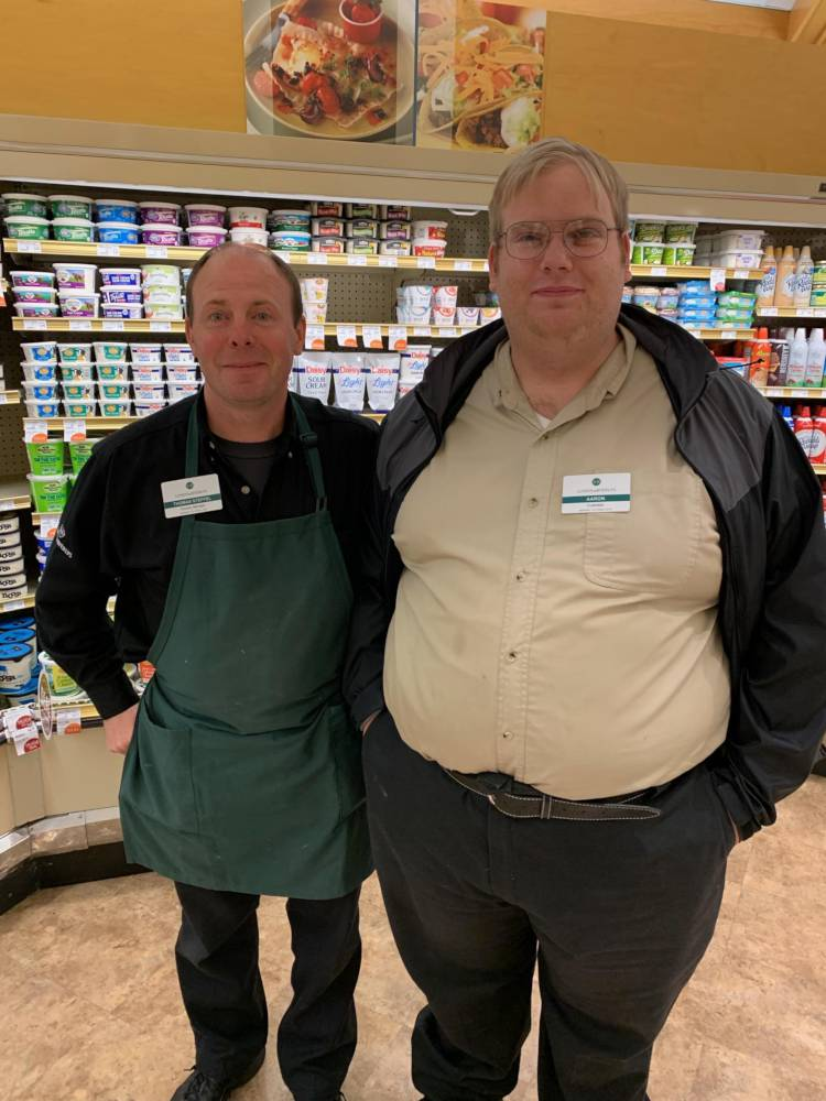 Aaron and his co-worker, Thomas